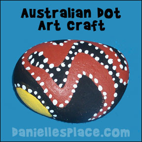 Australian Dot Art Craft for Kids. Great for Australian Unit Study