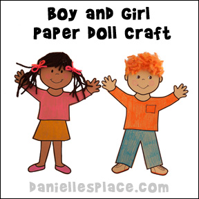 Boy and Girl Paper Doll Craft