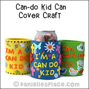 Can-do Can Craft for Joshua Bible Lesson from www.daniellesplace.com