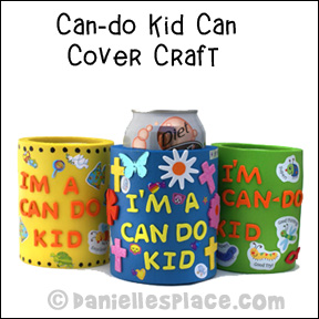 Can-do Kid Bible Craft for Sunday School from www.daniellesplace.com Copyright 2009
