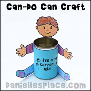 Can-Do Craft for Joshua Bible Lesson
