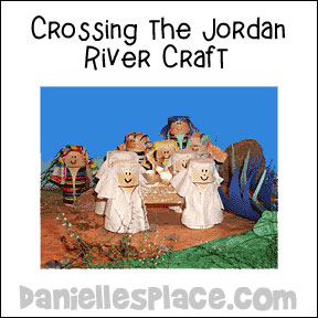 Crossing the Jordan River Bible Craft from www.daniellesplace.com