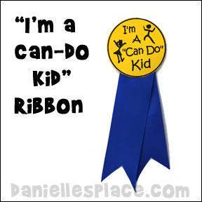 I'm a Can-do Kids Award Ribbon Craft from www.daniellesplace.com