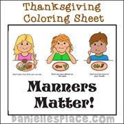 Manners Matter! Coloring Sheet