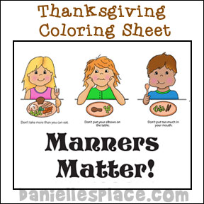 Manners Matter Coloring Sheet for Sunday School from www.daniellesplace.com