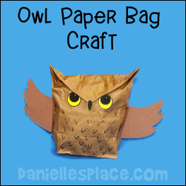 Owl paper bag Craft