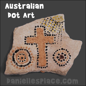 Australian Dot Art with Natural Paint Craft for Kids from www.daniellesplace.com. Great Homeschool craft for Australian Unit Study!