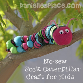 Sock Caterpillar Craft for Kids