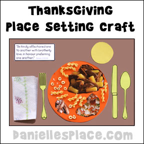 Thanksgiving Craft - Thanksgiving Table Setting Craft
