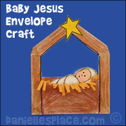 Baby Jesus in a Manger Envelope Craft