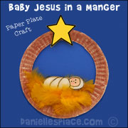 Baby Jesus in a Manger Paper Plate Craft from www.daniellesplace.com ...