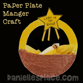 """Light of the World"" Paper Plate Manger Christmas Craft"