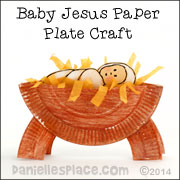 Paper Plate Baby Jesus in the Manger Craft from www.danielleplace.com