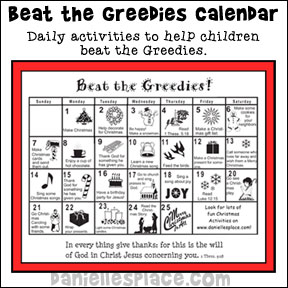 Beat the Greedie Calendar from www.daniellesplace.com