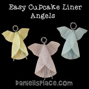 Angel Cupcake Liner Ornament Craft from www.daniellesplace.com