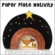 Paper plate nativity craft from www.daniellesplace.com