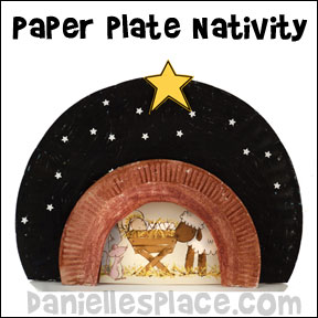 Nativity Paper Plate Craft for Sunday School from www.daniellesplace.com