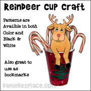 Reindeer Treat Cup Craft - Christmas Craft for Children from www.daniellesplace.com