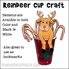 Reindeer Treat Cup Craft from www.daniellesplace.com Copyright 2007