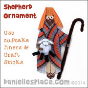 "Shepherd Christmas Ornament Craft for Kids for ""The Christmas Story"" Lesson 3 on www.daniellesplace.com"