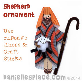 Shepherd Craft Made from cupcake liners from www.daniellesplace.com