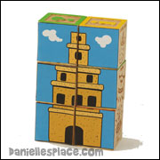 "Tower of Babel  block puzzle for ""More Wise and Foolish Builders"" Sunday School Lesson from www.daniellesplace.com"