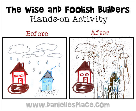 Dry Erase Wise and Foolish Illustration for Bible  Lesson from www.daniellesplace.com