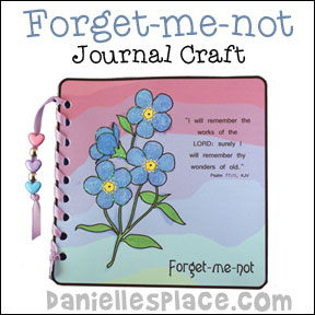 Forget-me-not Journal Bible Craft for Sunday School from www.daniellesplace.com
