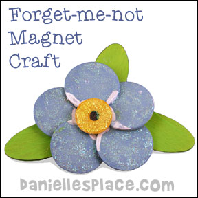 Forget-me-not Magnet Bible Craft from www.daniellesplace.com