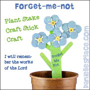 Crfat stick forget-me-not craft