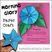 morning glory paper craft