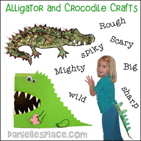 Alligator and Crocodile Crafts for Kids