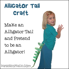 Alligator Tail Craft for preschool children from www.daniellesplace.com