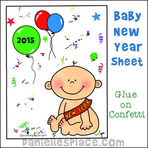 Baby New Years Activity Sheet from www.daniellesplace.com