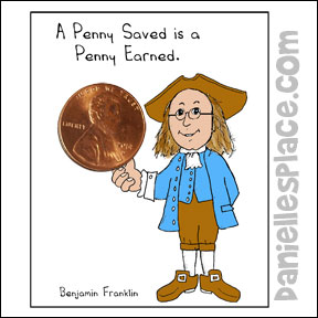Benjamin Franklin Holding a Penny Craft from www.daniellesplace.com