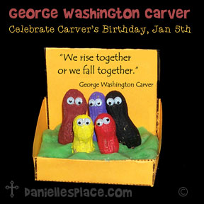 George Washington Carver Craft to Celebrate his birthday January 5th from www.daniellesplace.com