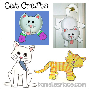 Cat Crafts for Kids from www.daniellesplace.com