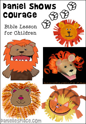 Free Daniel in the Lion's Den Sunday School Lesson from www.daniellesplace.com