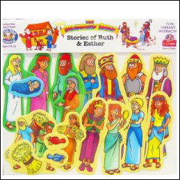 Ruth and Ester Flannelboard Figures for Sunday School from the Beginner Bible