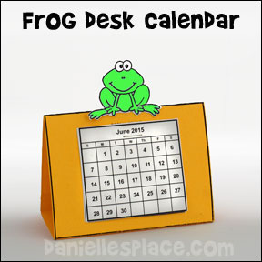 New Years Frog Calendar Craft from www.daniellesplace.com