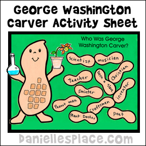 George Washington Carver Activity Sheet from www.daniellesplace.com