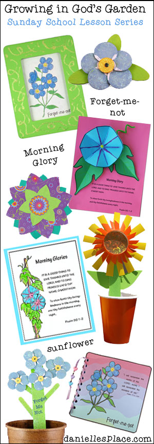"""Growing in God's Garden"" Bible Lessons for Children from www.daniellesplace.com"
