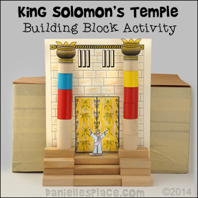 Solomon's Temple Building Block Learning Activity from www.daniellesplace.com