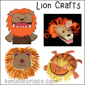 Lion Crafts for Preschool, Children, and Sunday School from www.daniellesplace.com