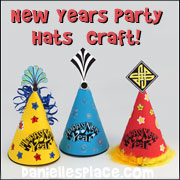 New Years Hat Craft for Children from www.daniellesplace.com
