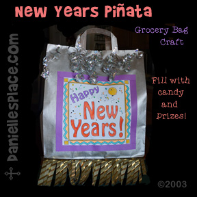 New Year Pi�ata Craft For a New Year's Party from www.daniellesplace.com