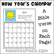 also see bible new years crafts