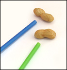 Peanut Straw Relay Race