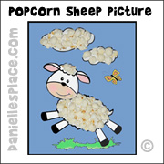 Macaroni Sheep Craft from www.daniellesplace.com