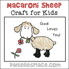 Macaroni Sheep Craft for Kids from www.daniellesplace.com